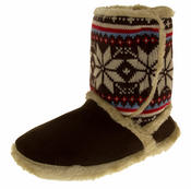 Ladies COOLERS FUR LINED Bootie Slipper Boots Thumbnail 1