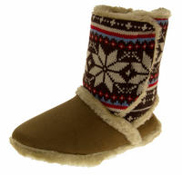 Ladies COOLERS FUR LINED Bootie Slipper Boots Thumbnail 9