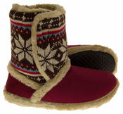 Ladies COOLERS FUR LINED Bootie Slipper Boots Thumbnail 8
