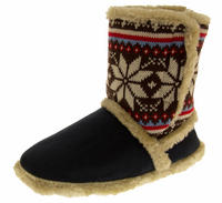 Ladies COOLERS FUR LINED Bootie Slipper Boots Thumbnail 3
