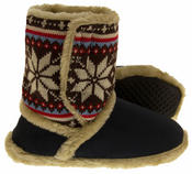Ladies COOLERS FUR LINED Bootie Slipper Boots Thumbnail 4