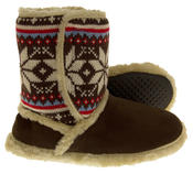 Ladies COOLERS FUR LINED Bootie Slipper Boots Thumbnail 2