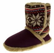 Ladies COOLERS FUR LINED Bootie Slipper Boots Thumbnail 5