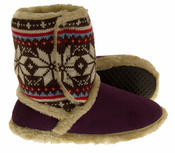 Ladies COOLERS FUR LINED Bootie Slipper Boots Thumbnail 6