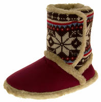 Ladies COOLERS FUR LINED Bootie Slipper Boots Thumbnail 7