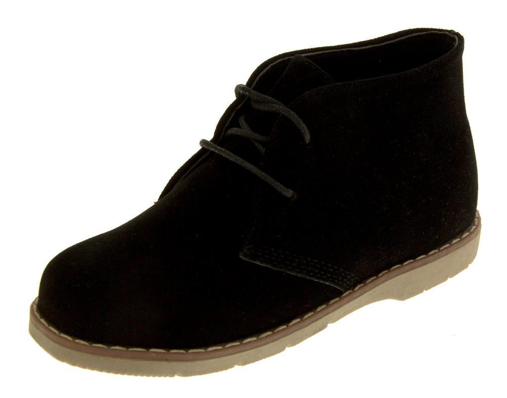 Boys Faux Suede Desert Boots