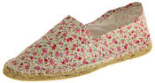 Ladies Patterned Espadrilles Canvas Casual Pumps Thumbnail 1