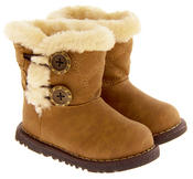 Infant Girls Fur Lined Twin Button Winter Boots Thumbnail 10