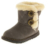 Infant Girls Fur Lined Twin Button Winter Boots Thumbnail 5
