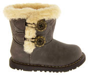 Infant Girls Fur Lined Twin Button Winter Boots Thumbnail 7