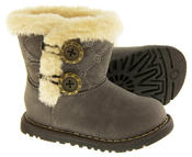 Infant Girls Fur Lined Twin Button Winter Boots Thumbnail 8