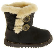 Infant Girls Fur Lined Twin Button Winter Boots Thumbnail 4