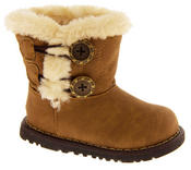 Infant Girls Fur Lined Twin Button Winter Boots Thumbnail 11