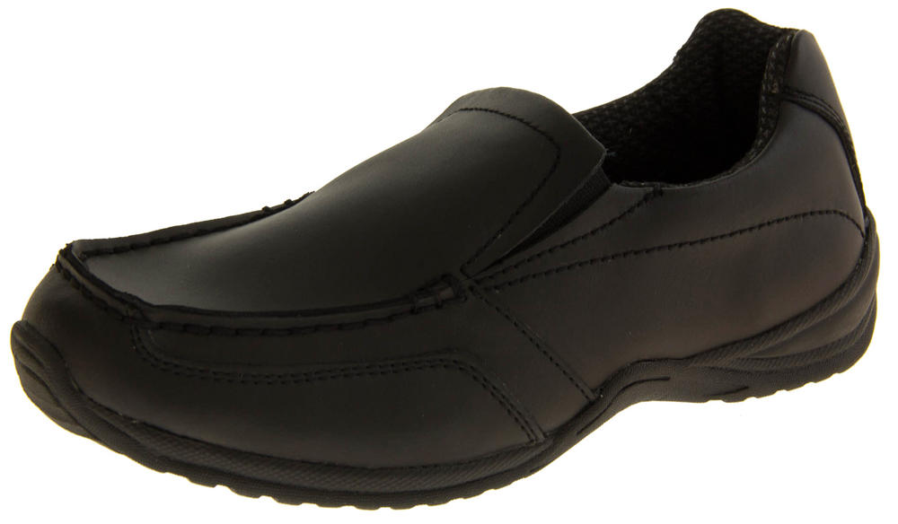 Boys Leather Slip On Back to School Shoes