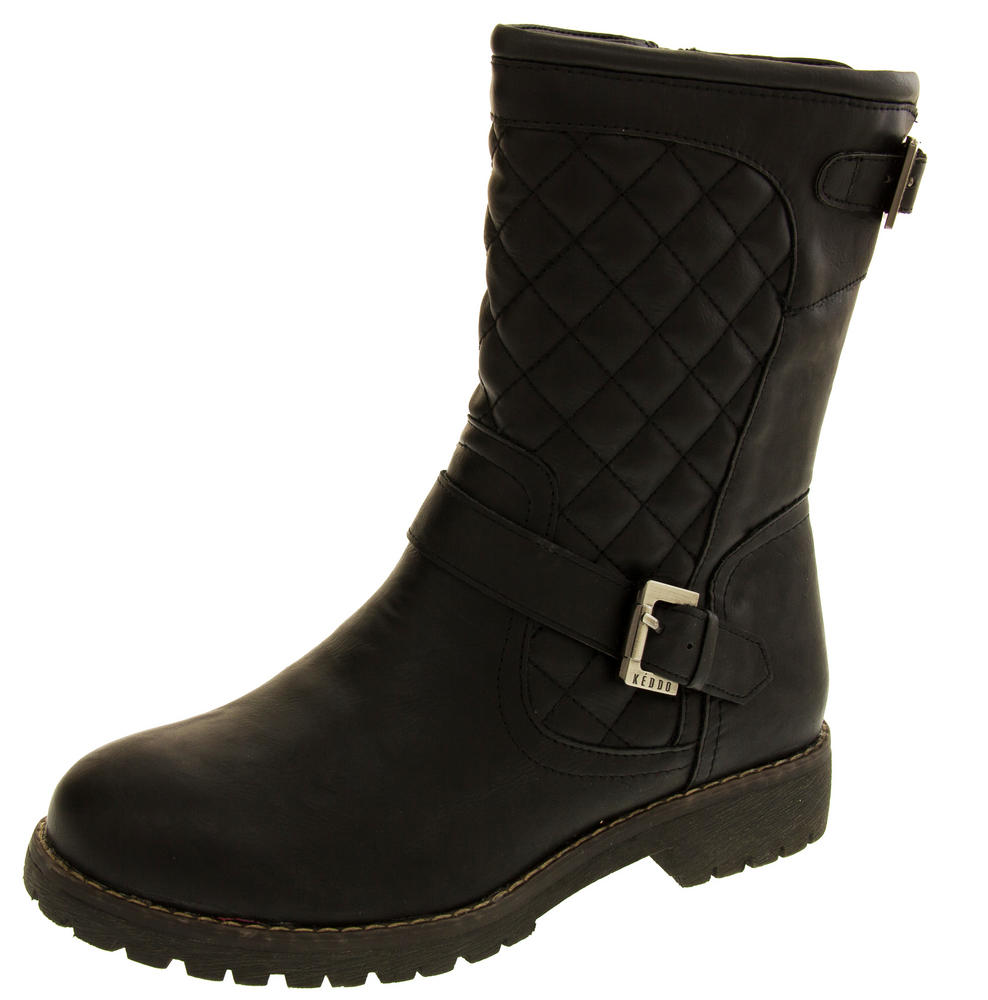 Womens KEDDO Sheep Wool Lined Quilted Boots