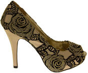 Womens Lace Wedding Formal Court Shoes Thumbnail 5