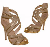 Ladies High Heel Glitter Sandals Strappy Stiletto Party Shoes 3 4 5 6 7 8  Thumbnail 5