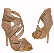 Ladies High Heel Glitter Sandals Strappy Stiletto Party Shoes 3 4 5 6 7 8  Thumbnail 6