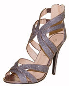 Ladies High Heel Glitter Sandals Strappy Stiletto Party Shoes 3 4 5 6 7 8  Thumbnail 7