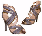 Ladies High Heel Glitter Sandals Strappy Stiletto Party Shoes 3 4 5 6 7 8  Thumbnail 8