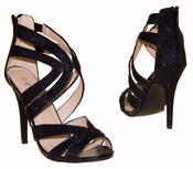 Ladies High Heel Glitter Sandals Strappy Stiletto Party Shoes 3 4 5 6 7 8  Thumbnail 3