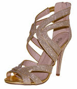 Ladies High Heel Glitter Sandals Strappy Stiletto Party Shoes 3 4 5 6 7 8  Thumbnail 4