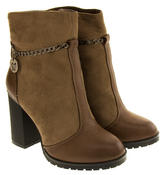 Womens BETSY REAL WOOL Lined Cuban High Heels Boots Thumbnail 4