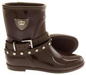 Womens KEDDO Fur Lined Short Half Wellington Boots Thumbnail 4