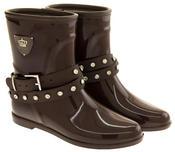 Womens KEDDO Fur Lined Short Half Wellington Boots Thumbnail 5