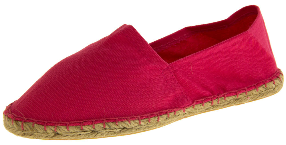 Ladies Bright Espadrilles Canvas Casual Pumps