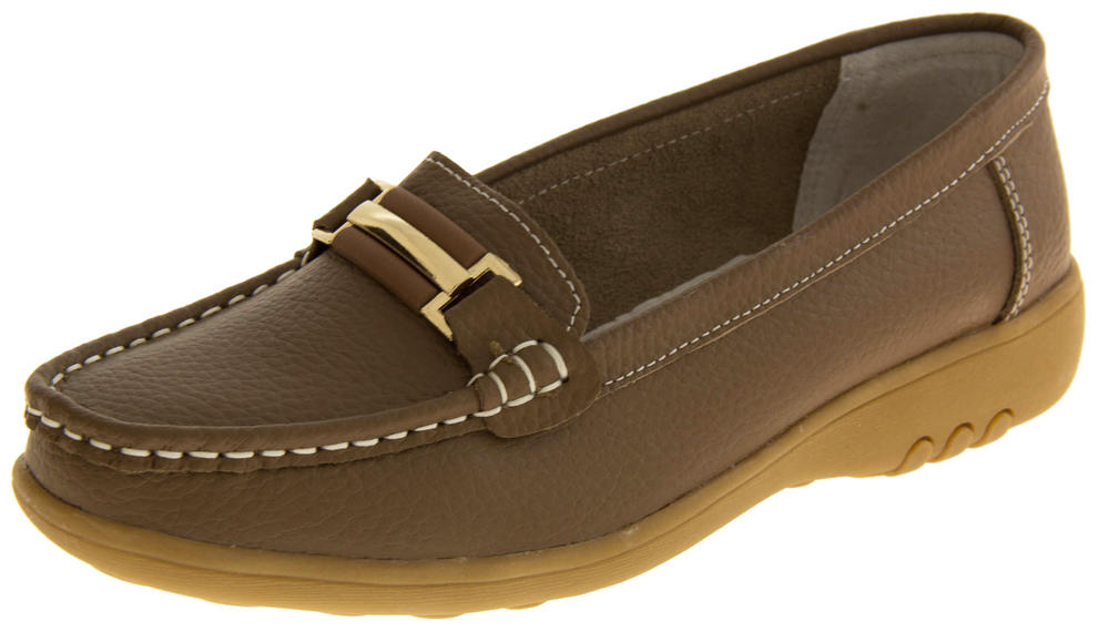 Womens COOLERS PREMIER Leather Loafer Moccasins