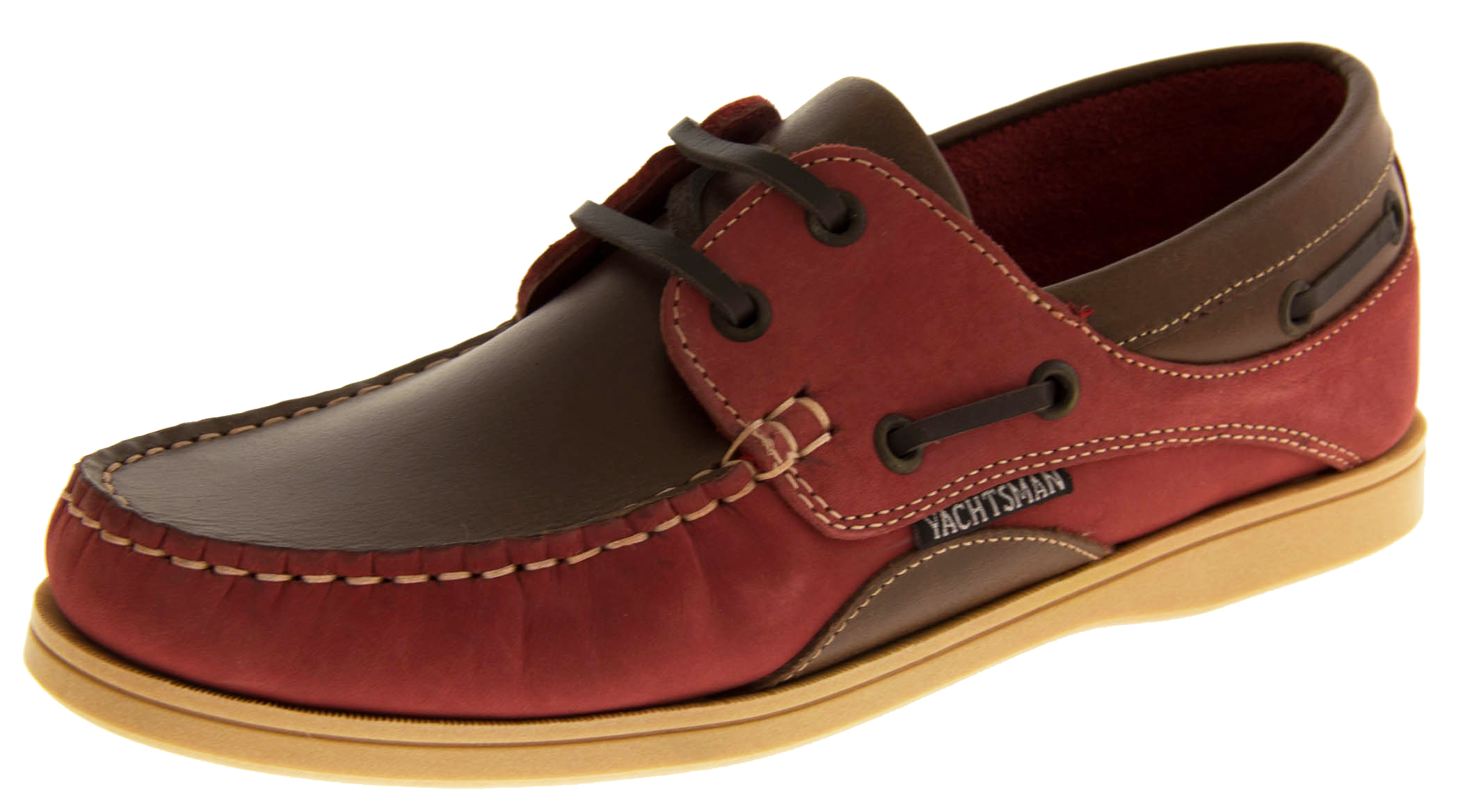 Womens Yachtsman Leather Sailing Deck Shoes Womens Mens