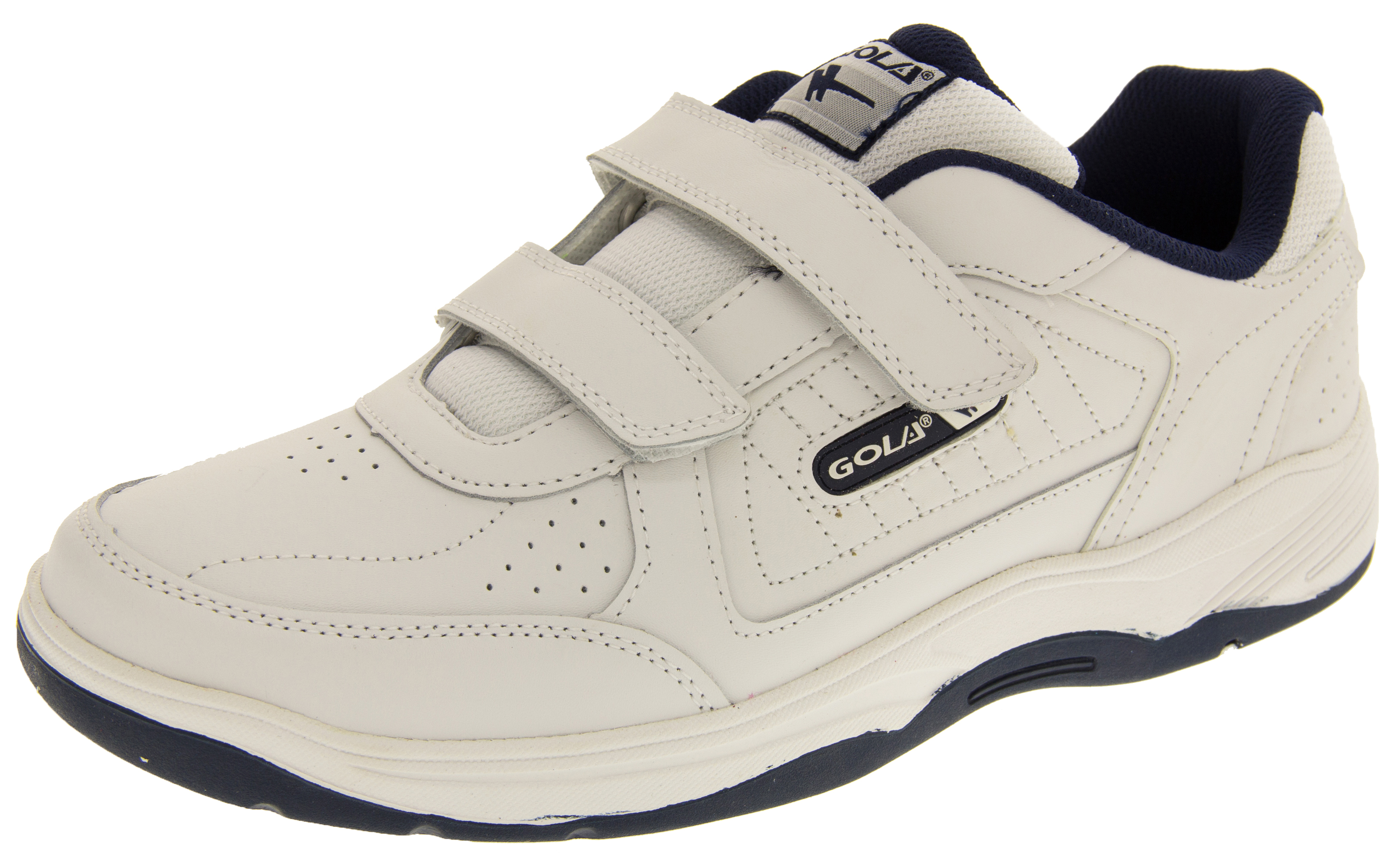 Mens GOLA Wide Fit EE Leather Velcro Trainers
