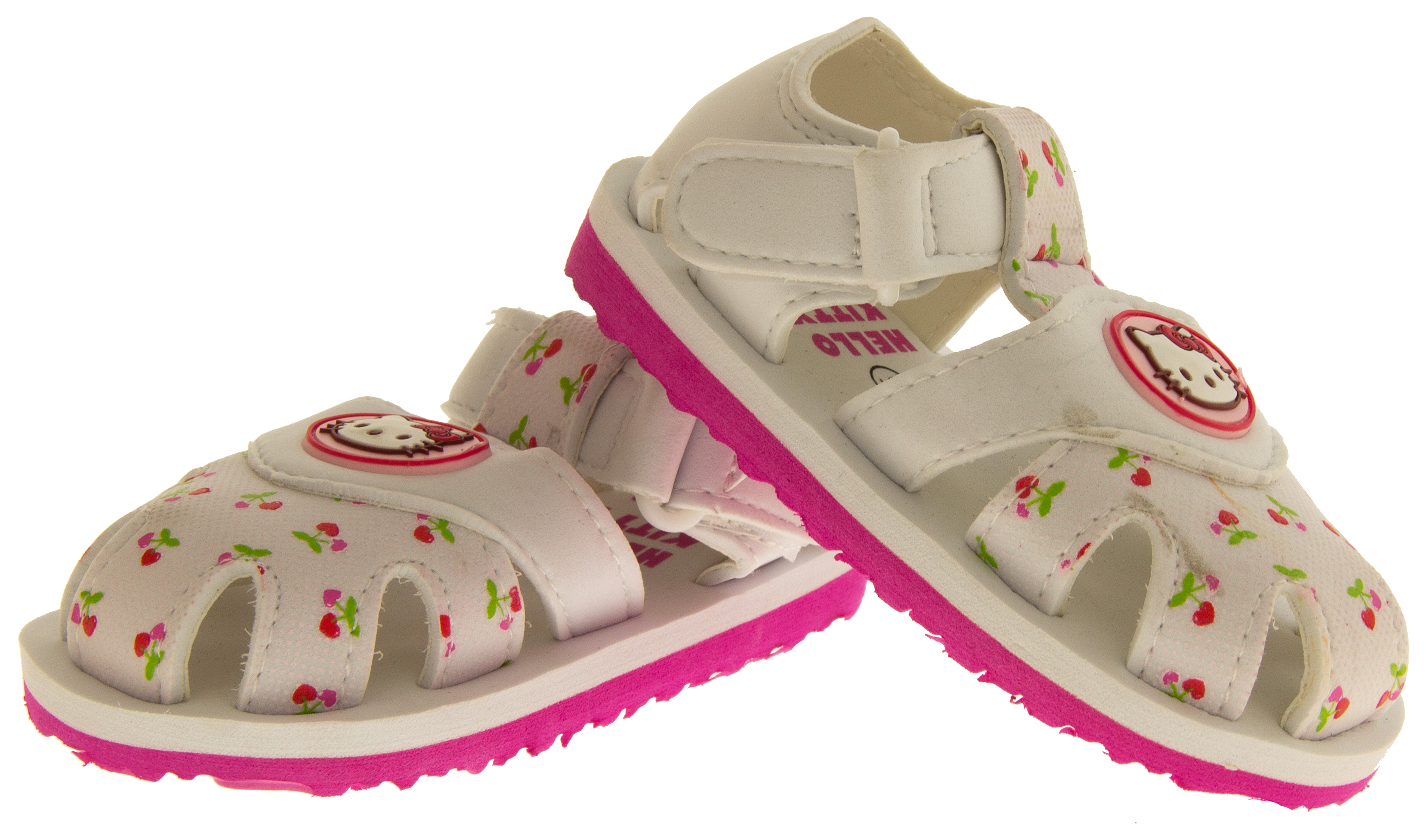 Baby Girls Hello Kitty Sandals Kids Pink White Beach Summer Shoes