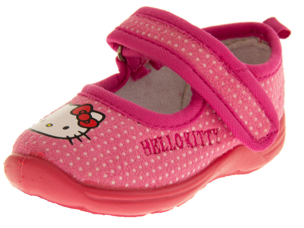 Girls HELLO KITTY Mary Jane Shoe Slippers