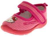 Girls HELLO KITTY Mary Jane Shoe Slippers