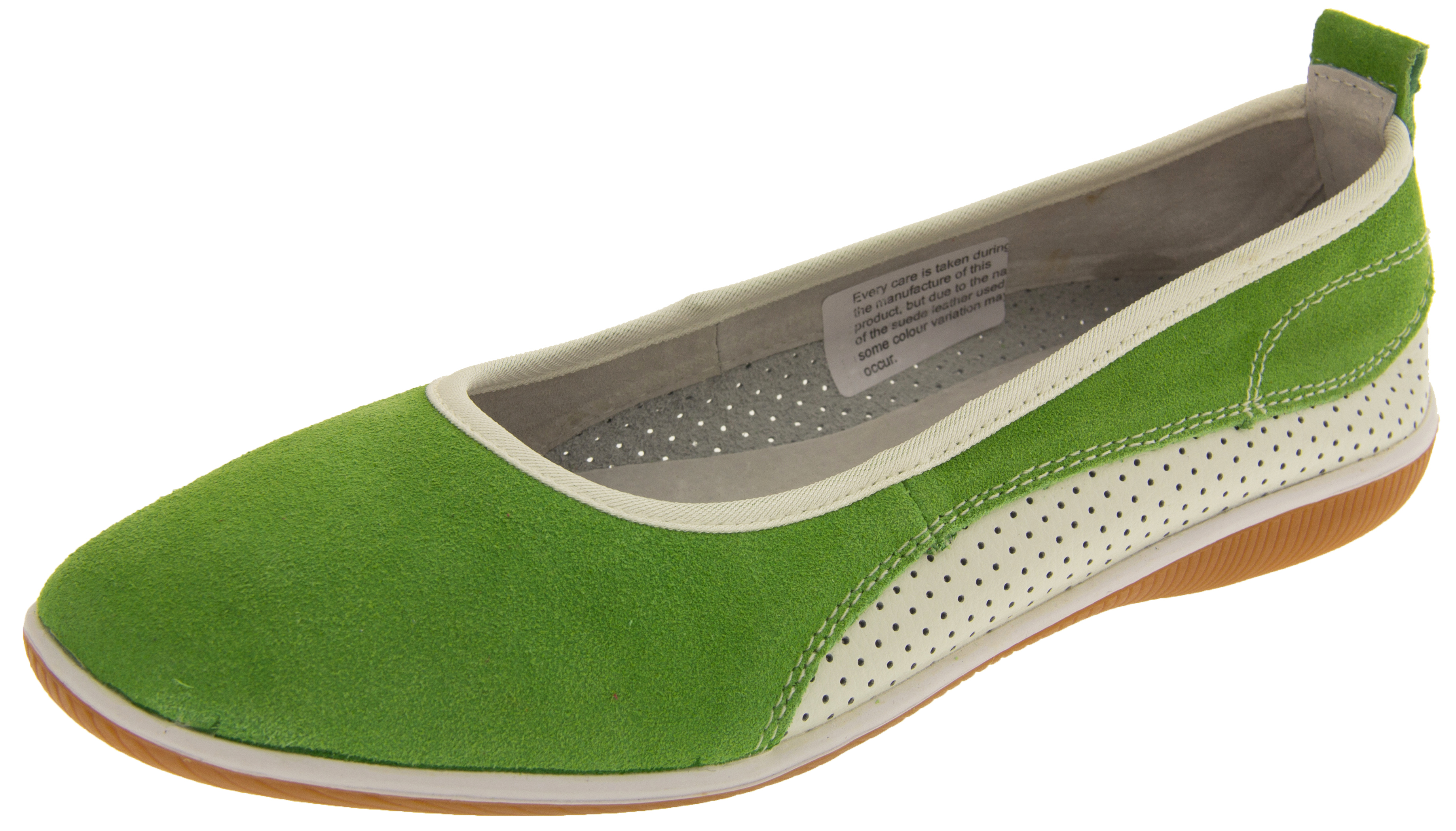 Green Leather Shoes Ladies