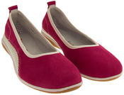 Womens Suede Leather COOLERS Shoes Ladies Flat Ballerina Pumps Sz Size 4 5 6 7 8 Thumbnail 6