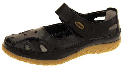 Womens Leather Sandals Ladies Comfort Mary Jane Flat Shoes Size 4 5 6 7 8
