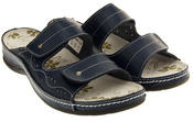 Ladies COOLERS Leather Sandals Velcro Strap Slip On Mules Thumbnail 8