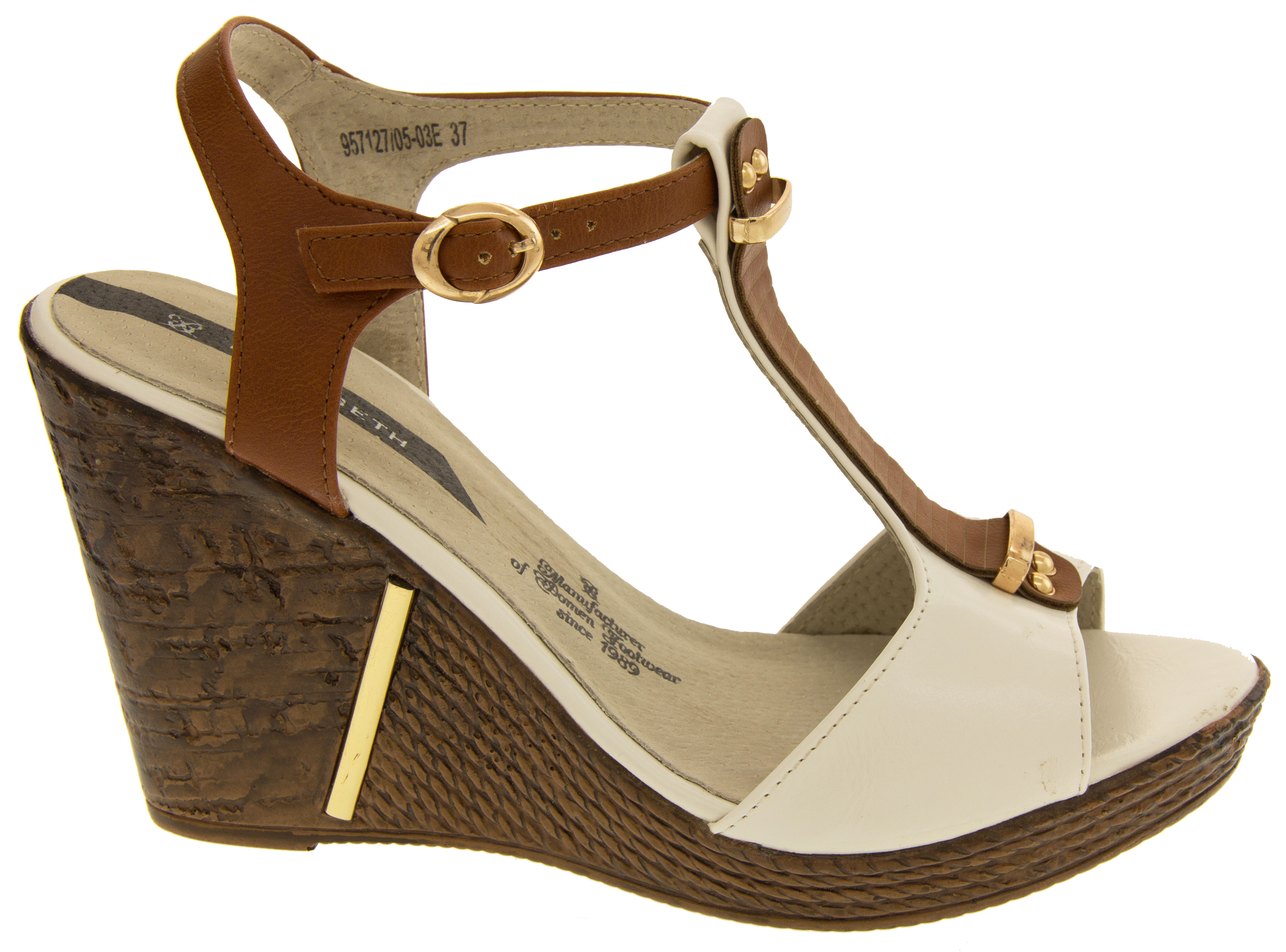 bcdcb54b89a Sentinel Womens Elisabeth Wedge High Heels Sandals Platform Strappy Shoes  Size 4 6 7 8