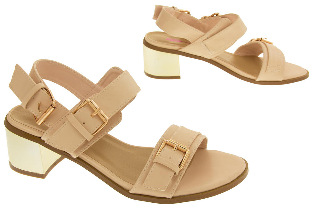 f5958210cce Ladies DOLCIS Strappy Mid Heel Sandals Womens Summer Shoes