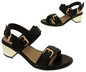 Ladies DOLCIS Strappy Mid Heel Sandals Womens Summer Shoes Thumbnail 5