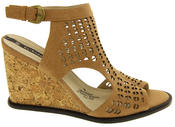 Womens Wedge Sandals Ladies High Heels Cut Out Summer Shoes Thumbnail 3