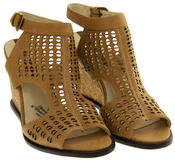 Womens Wedge Sandals Ladies High Heels Cut Out Summer Shoes Thumbnail 4