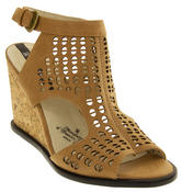 Womens Wedge Sandals Ladies High Heels Cut Out Summer Shoes Thumbnail 2