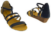 Ladies ELISABETH Mid Heel Wedge Sandals Summer Shoes Thumbnail 5