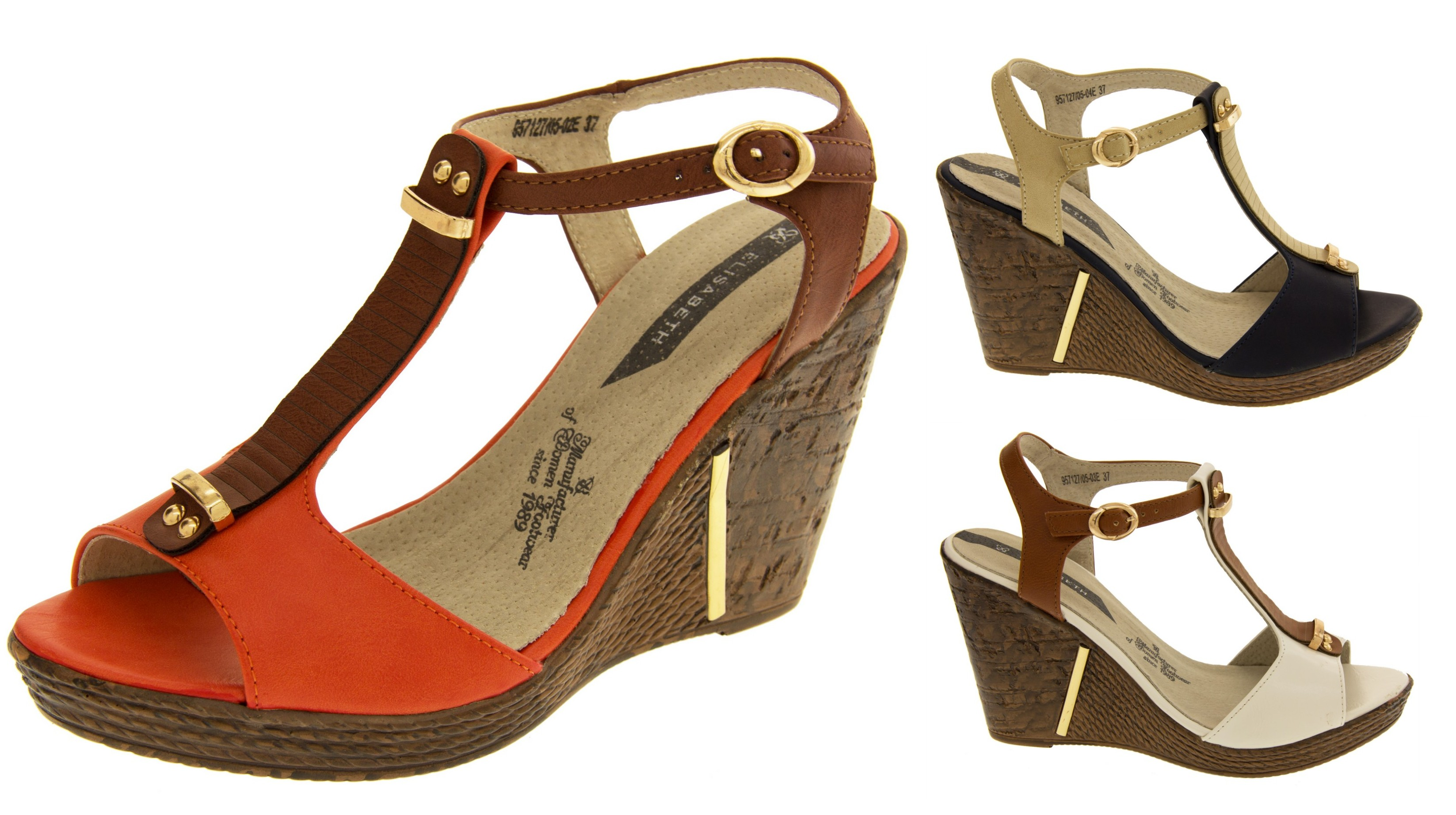 8 Womens Ladies Platform Wedge Peep Toe Ankle Strap Sandals Shoes Size 6