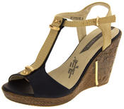 Womens Wedge High Heel Platform Strappy Sandals Thumbnail 1