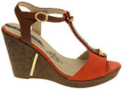Womens Wedge High Heel Platform Strappy Sandals Thumbnail 7